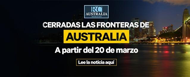 Australia cierra sus fronteras